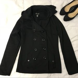 Wet Seal Button-Up Pea Coat